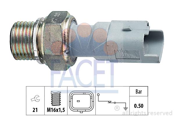 Olejový tlakový spínač FACET