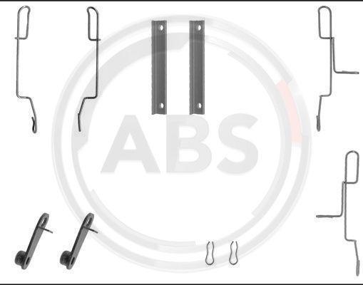Sada príslużenstva oblożenia kotúčovej brzdy A.B.S.