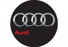 Nálepka živicová 4ks R-55mm Audi