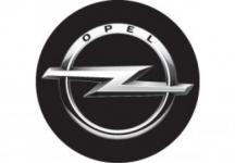 Nálepka živicová 4ks R-55mm Opel