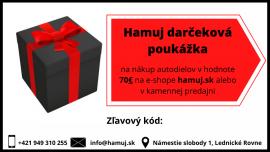 Darčeková poukážka v hodnote 70€